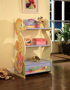 Kids Furniture Hand Painted Bookshelf  Under The by teamsondesign, $134.00  how cute is this?