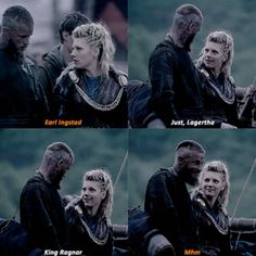 Lagertha and Ragnar...Like boy, I knew you when you were just a young buck talking mad smack. Ever think your dreams came true because I believed in them too? #Vikings