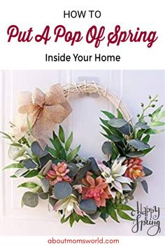 These are easy ways to put a pop of spring inside your home. Check out the home decors that you might want to change right now to get that spring vibes. Spring Is Here, Mom Blogs, Floral Wreath, Change, Money, Pop, Check, Easy, Wreaths
