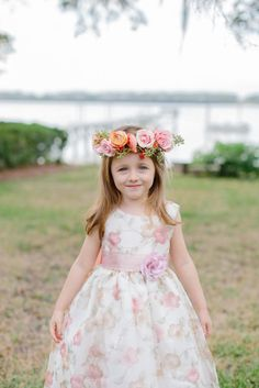 Flower crown and flower dress: http://www.stylemepretty.com/2014/04/23/pink-peach-backyard-charleston-wedding/ | Photography: Shannon Michele -  http://shannonmichelephotography.com/