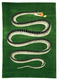 This Garden of Eden-themed serpent rug by Fornasetti