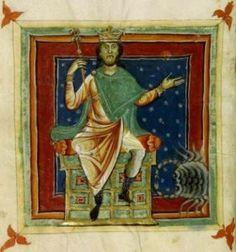 """Giove in esaltazione nel Segno del Cancro. Miniatura dal """"Liber Astrologiae"""" di Georgius Zothorus Zaparus Fendulus, XIII sec."""