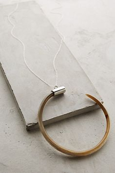 Curved Horn Pendant Necklace #anthropologie