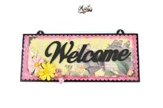 Welcome Sign- Floral Theme