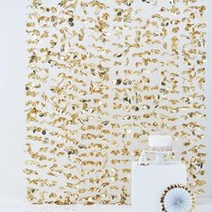 Gold Floral Party Backdrop