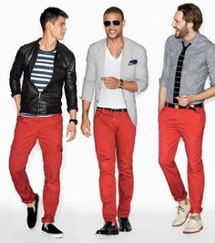 Red Pants, 3 ways.