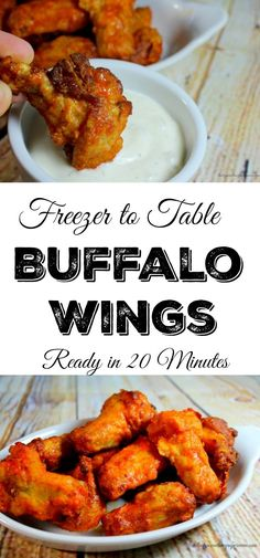 Easy Buffalo Wings that are ready in 20 minutes right from the freezer ...