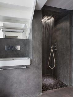 Banheiro minimalista em concreto