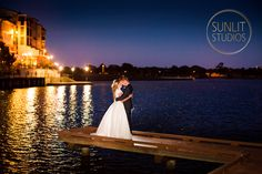 Gorgeous night lights at Emerald Lakes Gold Coast. Wedding Photography by Sunlit Studios