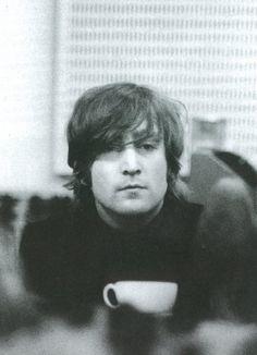 John Lennon & his cup of tea
