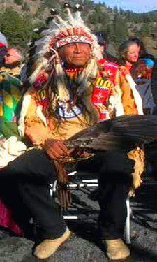 Chief Arvol Looking Horse 19th generation Keeper of the Sacred White Buffalo Calf Pipe