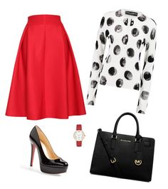 """""""rednblack"""" by brittneydenee01 on Polyvore featuring Relaxfeel, Dolce&Gabbana, Christian Louboutin, MICHAEL Michael Kors and Kate Spade"""