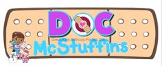 Doc McStuffins FREE FONT - Download this free font for your next Doc McStuffins Party.  Make party invitations, party labels, stickers, name tags, water bottle labels and lots more!  Over 65 FREE Disney FONTS at Great-Kids-Birthday-Parties.Com