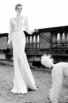 Bridal Fashion with Poodle