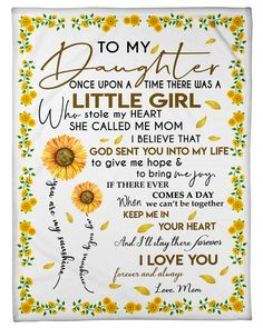 Advertisement - To My Daughter Fleece Blanket Chirstmas Gift by Mom You Are My Sunshine Love You Daughter Quotes, Mother Daughter Quotes, Daughter Love, Happy Birthday Daughter From Mom, Daughter Sayings, Brother Birthday, Brother Sister, Love Mom, Poem For My Daughter