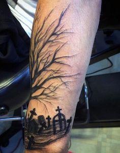 Resultado de imagem para Cemetery tattoo