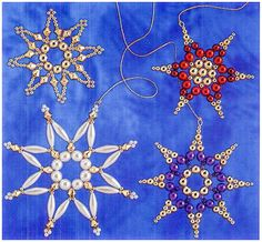 Snowflakes of beads and beads / New products / Biserok.org