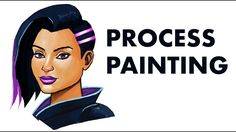 Sombra Painting  #art #painting #draw #sombra #fanart #video #youtube #tutorial #process #fan #fanart #overwatch #games #gaming #illustration #cool #ov #fps #tomcii Fanart Overwatch, Wacom Intuos, Painting Art, Concept Art, Gaming, Photoshop, Fan Art, Draw, Portrait