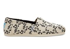 With an embroidered music-note print, these limited edition Classic  Alpargatas are made for 8d9a9e9b68