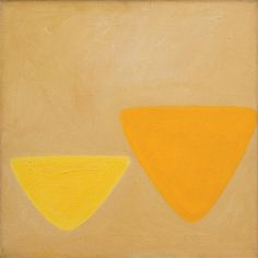 William Scott, Ochre and Yellow, 1966, Oil on canvas, 45.7 × 45.7 cm / 18 × 18 in approx., Private collection