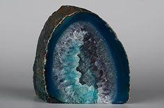 Achat Schnitt Boden gefärbt Geoden Skulptur Ornament, Home Décor, Zuhause Styling-Jeder Achat ist Hand ausgewählt für it 's Natur Beauty