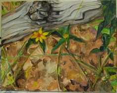 Log and Flower by fearofbears on Etsy, $45.00