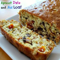 This Apricot Date Nut loaf is a delicious twist to the regular bread! Perfect for tea time!
