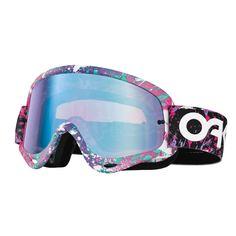 Oakley O Frame Goggles - Factory Splatter Violet Iridium