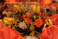 Flowers for the meeting provided by the Arrangement Gallery.