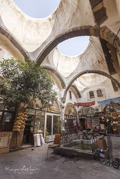 Traditional shops - Old Damascus. Aleppo, World Cities, Photoshop Cs5, Tall Ships, Old City, Travel Aesthetic, Travel Abroad, Holiday Travel, Middle East