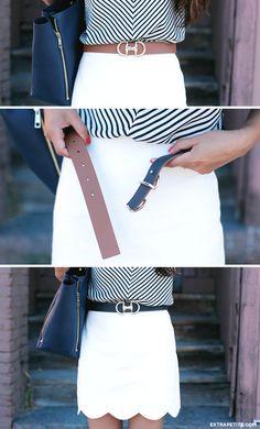 ExtraPetite.com - Talbots reversible horsebit belt (Hermes dupe)   summer sale