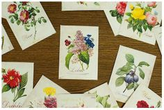 Label Sticker Pack - Flower (52 Pieces Package) from Luckyshop0228 by DaWanda.com
