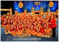 Congratulations to Indiana University Cheerleading Program's Crimson squad for winning their second straight UCA National Championship! Go Hoosiers!