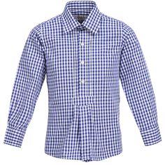 Trachtenhemd für Kinder in Blau von Almsach