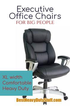 Looking for the best office chair for big people?The best office chair for a heavy person is one that will give not only support, but has an extra wide seat, extra padding and sturdy arms. Best Office Chair, Executive Office Chairs, Dark Blue Living Room, Dining Room Table Chairs, Big People, Best Interior, Architecture Design, Interior Decorating, Bigger Person