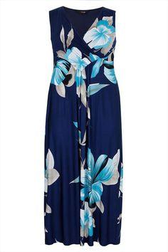 Praslin Maxikleid mit Allover Blütenprint  Praslin Maxi Dress Flower print   | Übergröße - XXL-Mode - Plus Size - Große Größen - Molly - Fashion - Kleidung