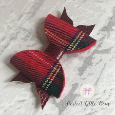 Lovely Red Tartan Handmade Hair Bow