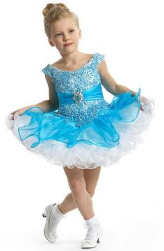 Perfect Angels 1462 Organza and Lace Little Girls Pageant Dress