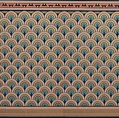 Anglo-Japanese Roomset - Eastlake Dado | Bradbury Anglo-Japanese Wallpaper | Color DOVE BLUE Victorian Style Eastlake Dado LINK: http://www.bradbury.com/victorian/eld_610_dove.html#.UoXqYSffLLQ