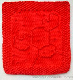 Knitted ChrisMoose Facecloth - any colour