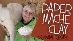 This is the famous recipe that takes all the mess and frustration out of paper m .This is the famous recipe that takes all the mess and frustration out of paper mache. Paper Mache Paste, Paper Mache Clay, Paper Mache Sculpture, Paper Mache Projects, Paper Crafts, Paper Paper, Paper Mache Crafts For Kids, Sculpture Projects, Recipe Paper