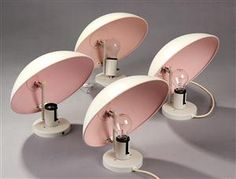 the supercutest small pale pink saucer lamps! Funky Lighting, Lighting Design, Deco Rose, Shine Your Light, Clever Design, Mid Century Modern Furniture, Light Art, Mid Century Design, Danish Design