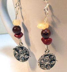 Gemstone Passover Seder Charm Earrings by lindab142 on Etsy, $18.00 #jewelry #earrings
