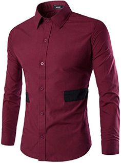 jeansian Men's Contrast Color Stitching Long Sleeves Dress Shirts 84D3 WineRed XS jeansian http://www.amazon.com/dp/B01CFILDY6/ref=cm_sw_r_pi_dp_GVN1wb139XTM4