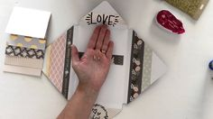 So cute and fun Diy Mini Album, Mini Album Tutorial, Mini Albums, Mini Books, Flip Books, Diy Waterfall, Up Book, Card Making Techniques, Handmade Books