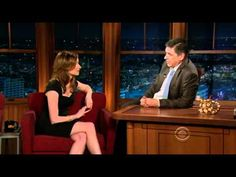 """Lennon Parham wears RHC Vander """"Pump"""" in black suede/Swarovski Crystals on The Late Late Show with Craig Ferguson earlier this month"""