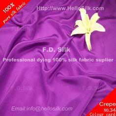 http://www.silkfabricwholesale.com/12mm-silk-crepe-de-chine-fabric-purple.html  F.D. silk most professional 12mm silk crepe de chine fabric-purple supplier.