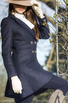 Cawdor Coat   Soft, rich British tweed, velvet details and equestrian buttons. Tweed has never been so feminine