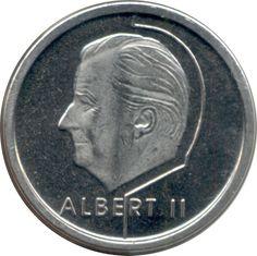 1 Franc #Belgio - 1994-2001 Riporta scritte in francese, una delle tre lingue ufficiali dello stato, insieme a olandese e tedesco.