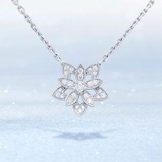 Be dazzled by the luminous new Lotus necklace. #DiamondBreeze #HolidaySeason